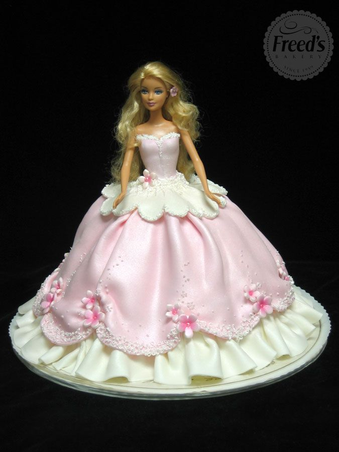 Pictures Of Barbie Birthday Cake For Girls Kidskunstfo
