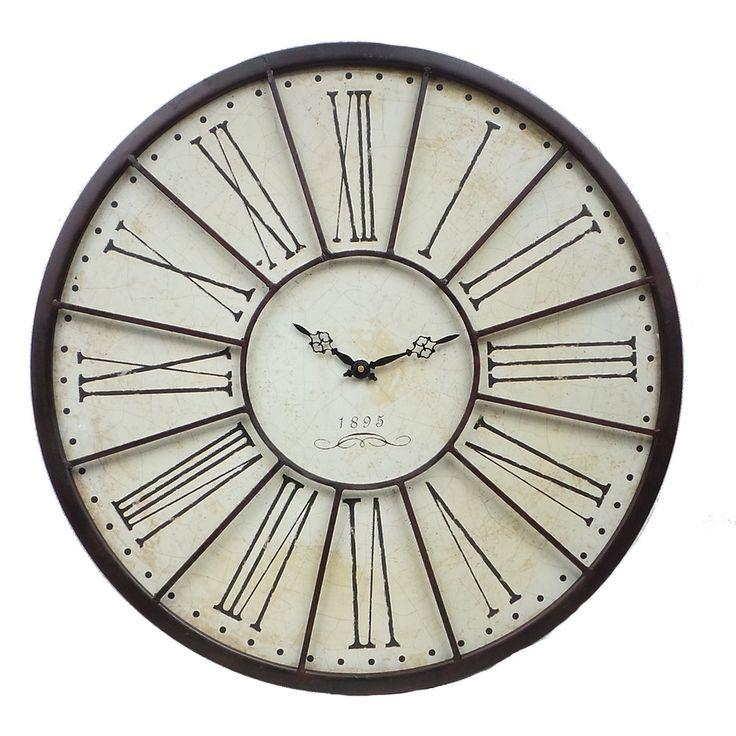 grande horloge murale l 39 ancienne de gare relojes. Black Bedroom Furniture Sets. Home Design Ideas