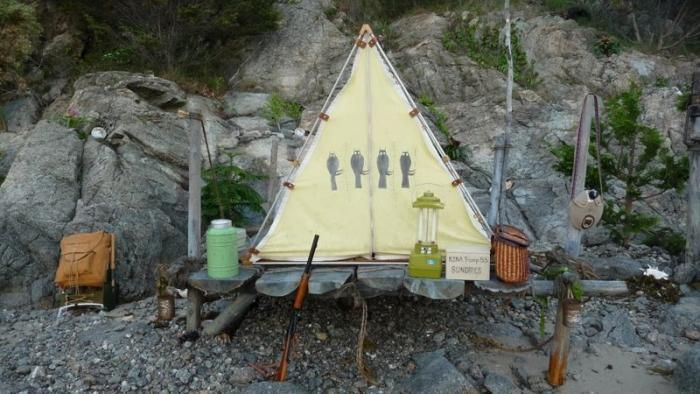 Paco  Miguel's camp would be less rocky, but similarly dressed (w/ a different tent)