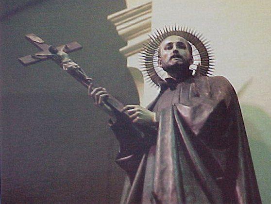 Glorifying Ignatius Loyola  Statue of Jesuit priest Ignatius Loyola, in the chapel of the Jesuit retreat at Manresa, Spain.  http://www.mindserpent.com/American_History/religion/pope/rc_images.html