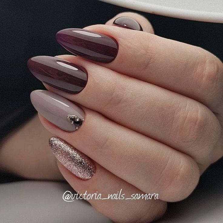 59 Beautiful Nail Art Design To Try This Season – long coffin nails ,mauve   plu…