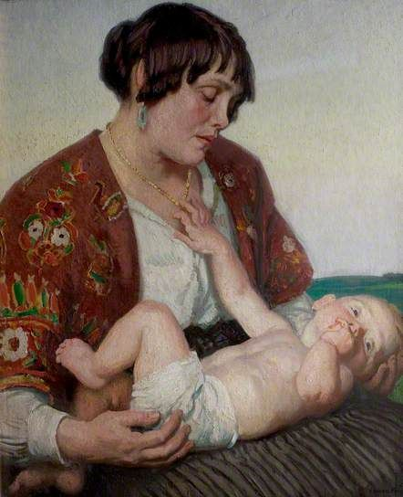 Motherhood - Laura Knight, c. 1922