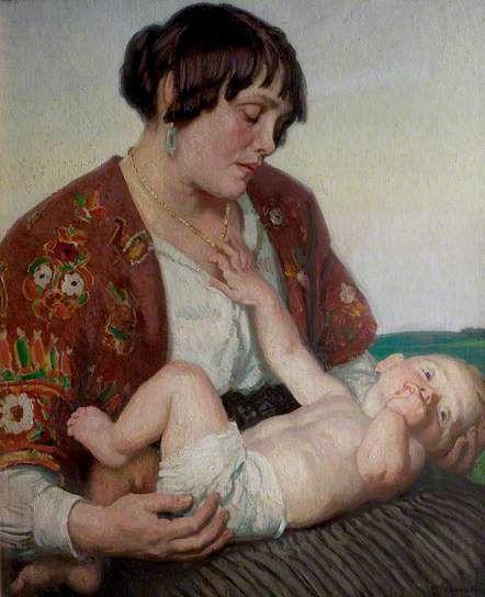 Motherhood - Laura Knight, c. 1922