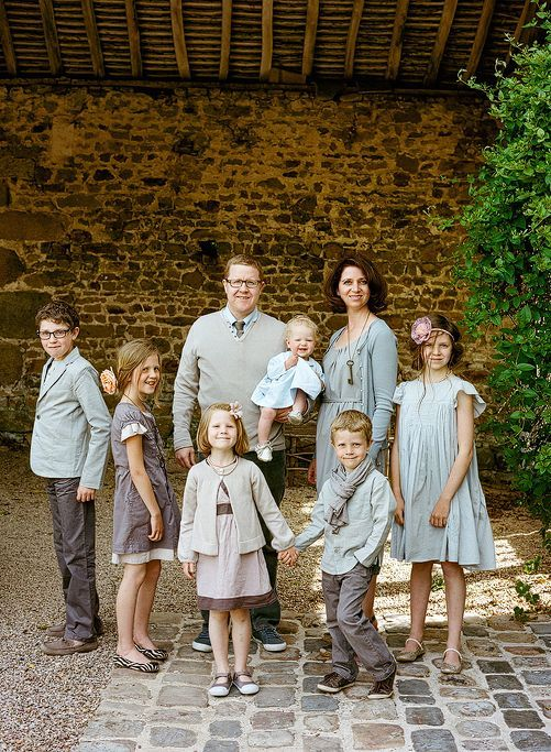 best family portrait i've seen in a long time! forget beach whites!  french greys is where it's at!