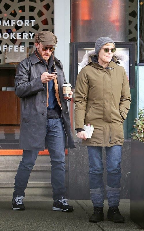 Robin Wright and Ben Foster having brunch at Abode Restaurant in Vancouver