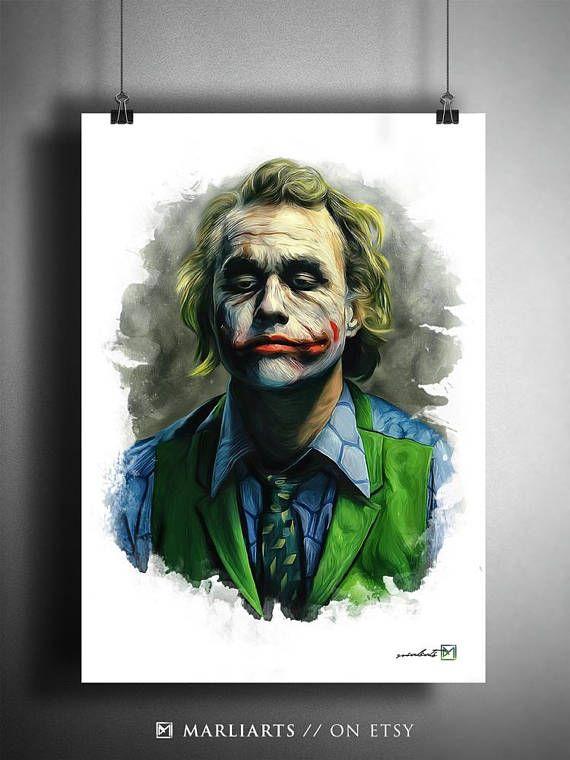 Joker Heath Ledger Batman The Dark Knight Kunstwerk