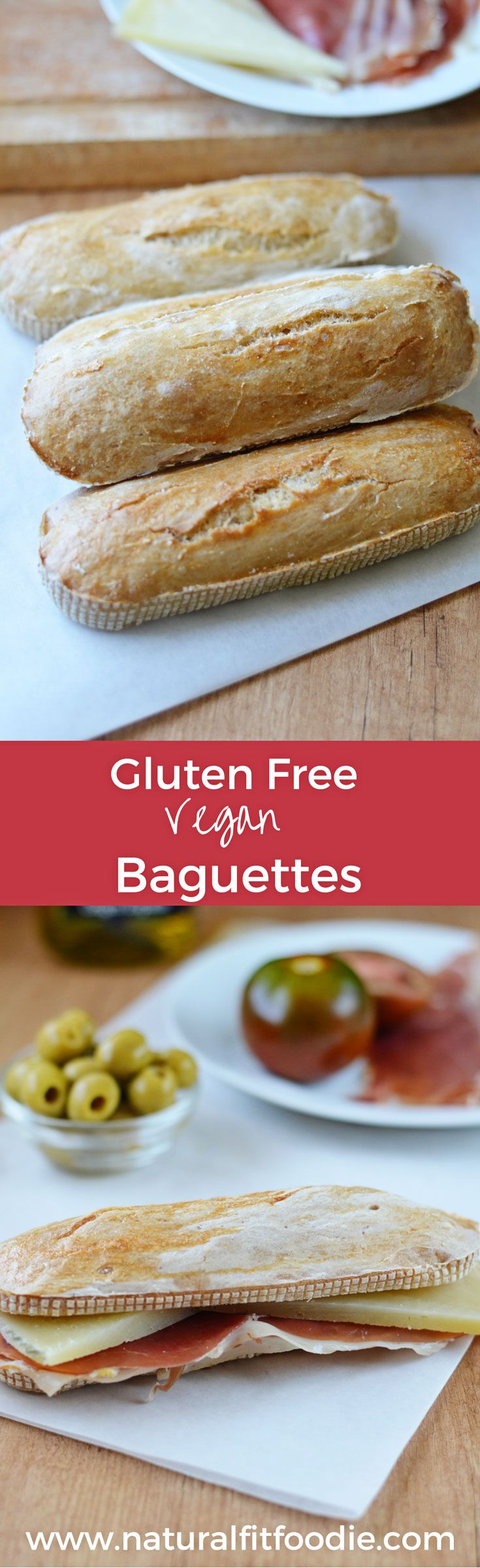 These mini gluten-free baguettes make the perfect portable sandwich. Take them to picnics, outdoor summer festivals you name it. Buckwheat flour yum