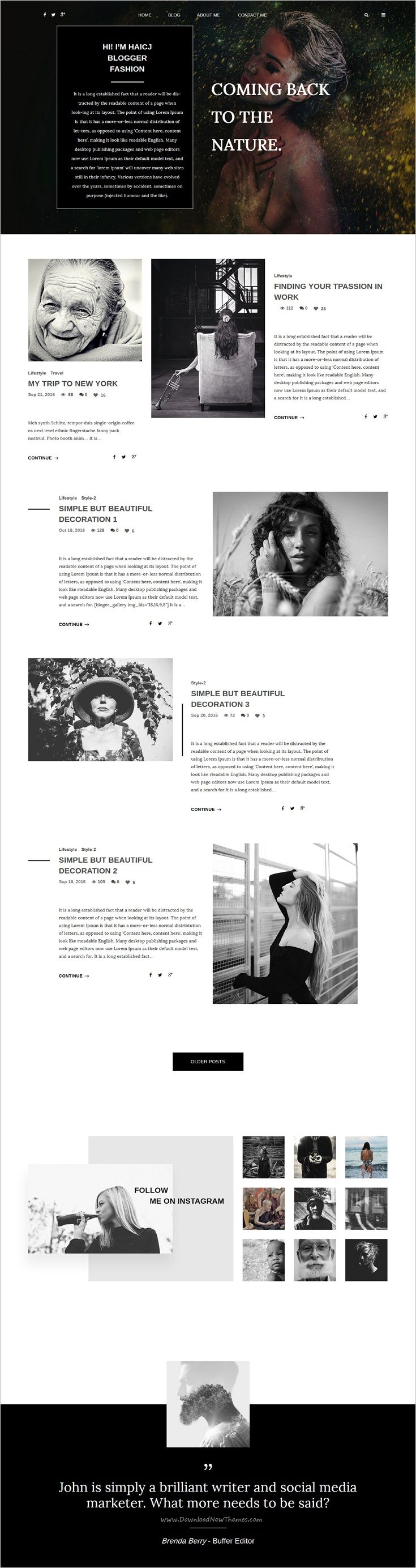 BLOGR is a awesome personal responsive 3in1 #WordPress #blog theme for special #writers and content marketer websites download now➩ https://themeforest.net/item/blogr-wordpress-theme-for-special-bloggers/18219085?ref=Datasata