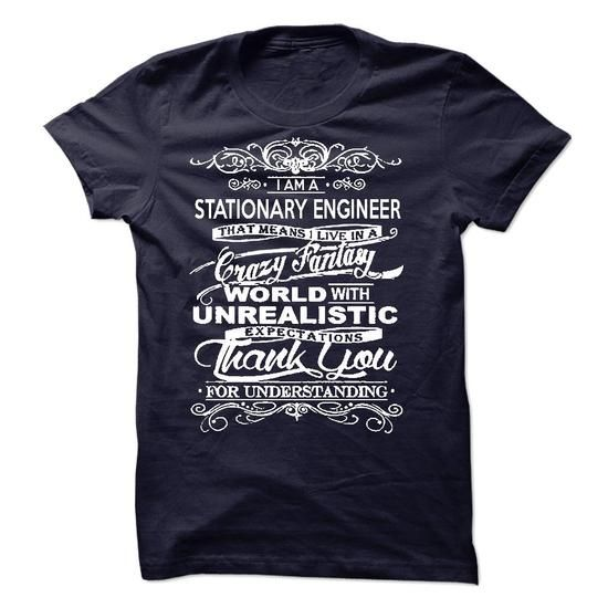 Awesome Tee I Am A Stationary Engineer T shirts