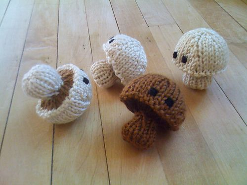Ravelry: Knitted 'Shrooms pattern by Abby Kroken