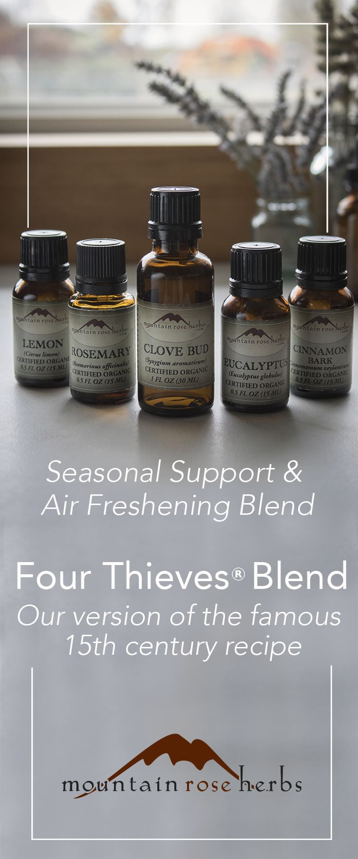 ThievesOil - learn the story behind the name of this powerful blend of essential oils, traditionally used to maintain healthy well-being during the winter months and to freshen the air.