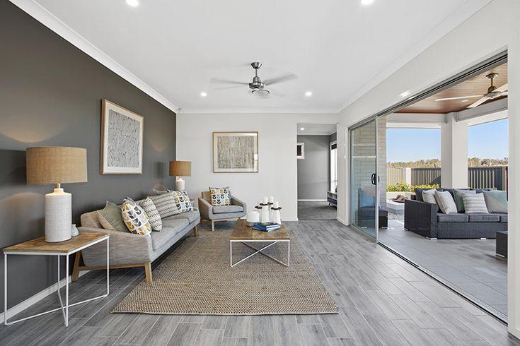 Open-plan living to alfresco. Display Home.