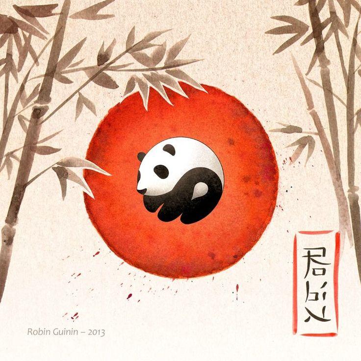 Panda yin et yang