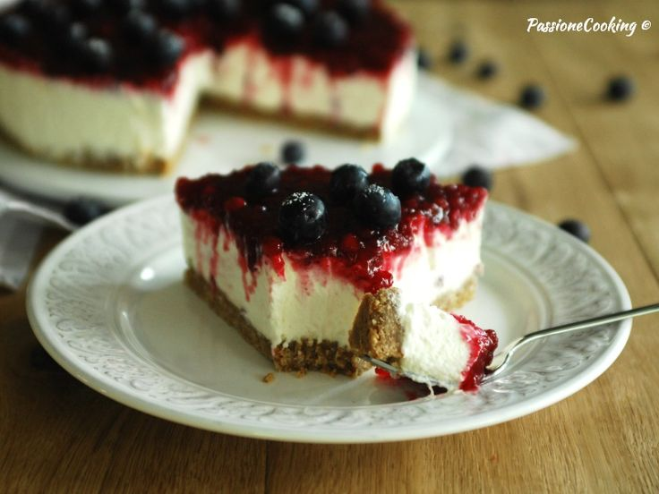 Cheesecake alla ricotta e mirtilli