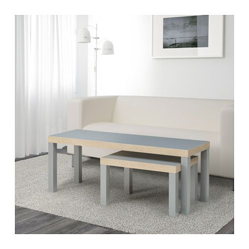 LACK Mesas de encaixar, conj. 2 - cinz - IKEA