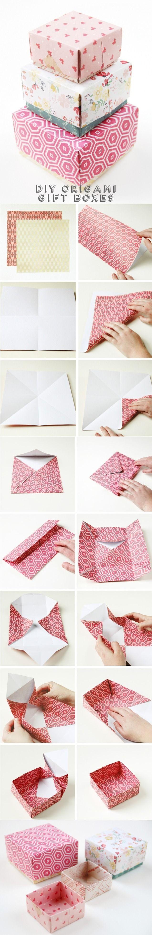 Delicadas Cajitas origami para envolver obsequios