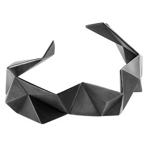 Image of Tectonic bangle, oxidised silver