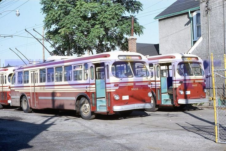 TTC  Toronto  CCF  Brill  trolley  coaches