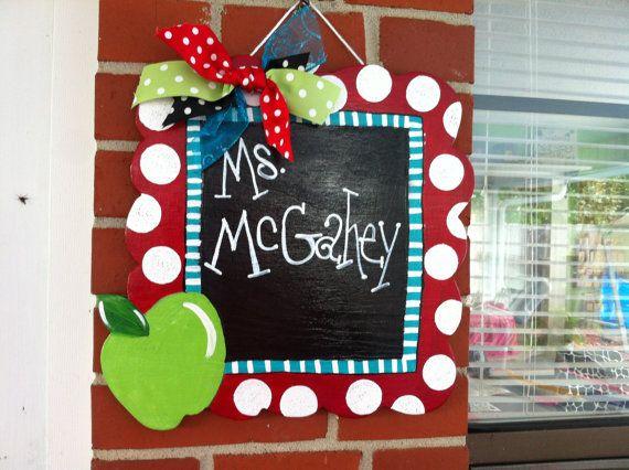 Charming Teacher Door Hanger by craftigirlcreations on Etsy, $22.00