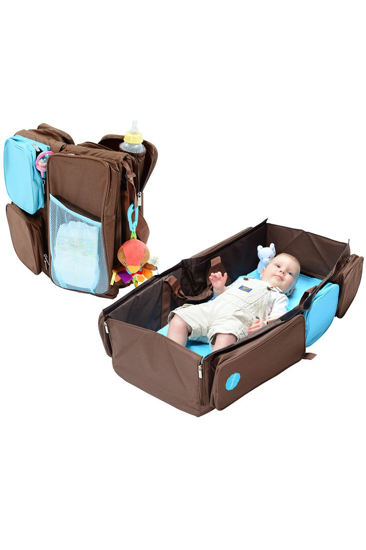 Baby bed holder - Mo M 3 In 1 Convertible Diaper Bag Baby Changing Pad Travel Bassinet