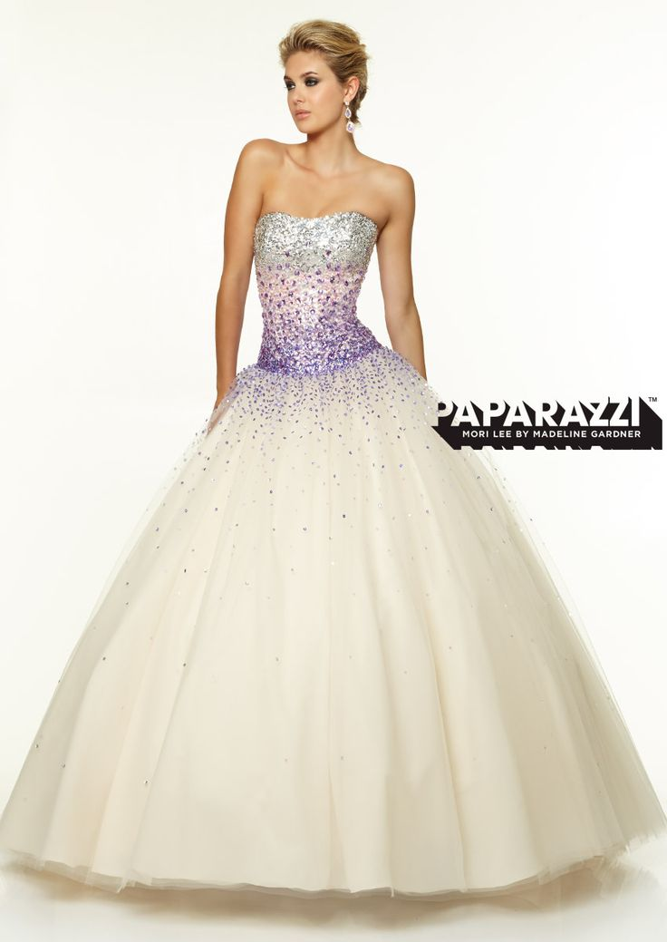 Prom Dresses – Paparazzi Prom Dress Ombré beading on tulle ballgown perfect for Quincenera