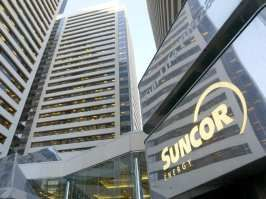 The Suncor offices are pictured in downtown Calgary. Suncor Energy will sell the Petro-Canada lubricants business for $1.125 billion to a Texas-based company under a proposed deal announced Monday. 2016-11-12