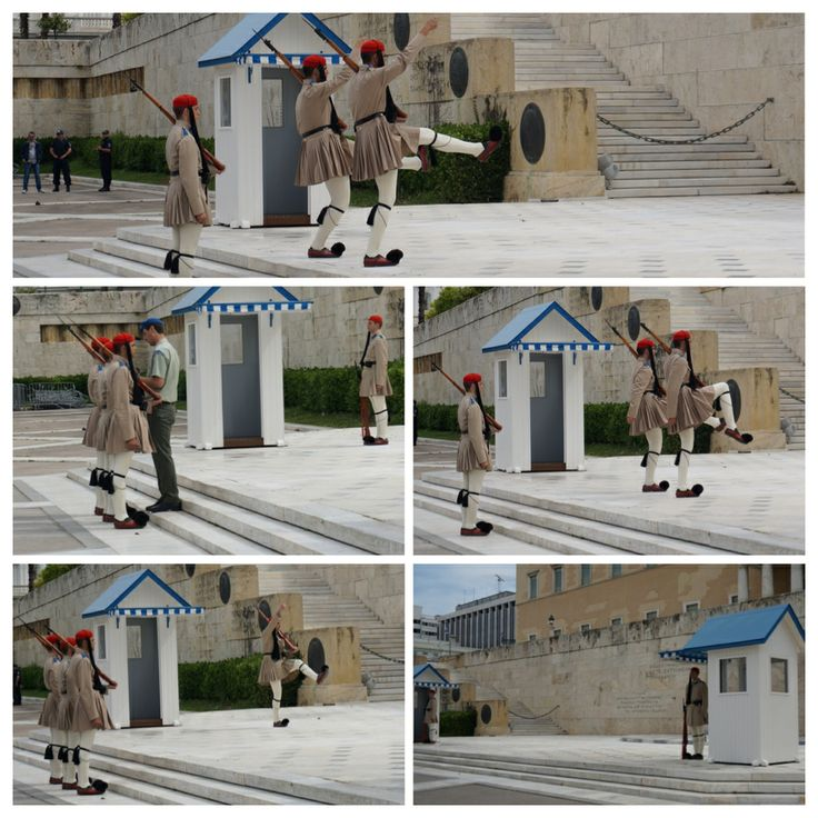 Afwisseling van de wacht regeringsgebouw Athene