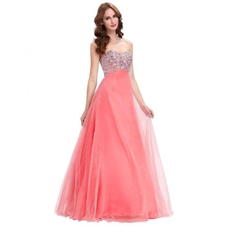 Ružové spoločenské šaty CL3107