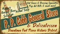 P.P. COBB GENERAL STORE Downtown Fort Pierce Historic District The original store was founded in 1896