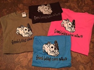 French Bulldog Rescue Network T-shirt - multiple sizes and colors available FBRN