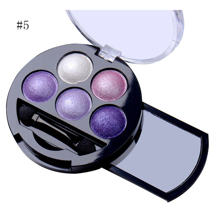 Hot 1Pcs 5 Colors Baked Eyeshadow Eye Shadow Powder Metallic Shimmer Warm Color Shadow Palette With Eyeshadow Brush Cosmetics-in Eye Shadow from Health & Beauty on Aliexpress.com | Alibaba Group