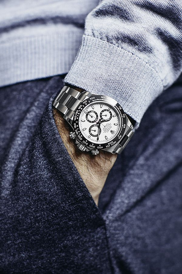 The Rolex Cosmograph Daytona on the wrist of Roger Federer.