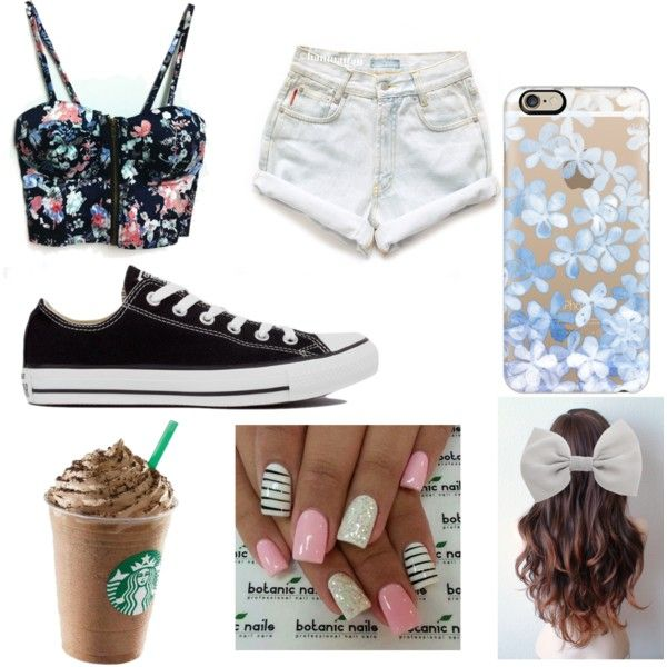 Day out by hayhay44 on Polyvore featuring polyvore, fashion, style, Levi's, Converse, Casetify and Accessorize