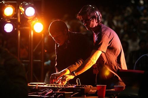 SebastiAn & KΔVINϟKY opening for Daft Punk in Seattle, 2007.