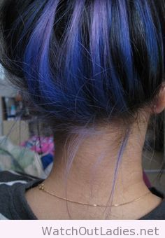 Dark blue under hair