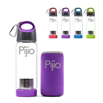 insane sale pijio tea infuser loose fruit infusion cold brew coffee maker infused glass water bottle mug best travel u0026 sports bpa free