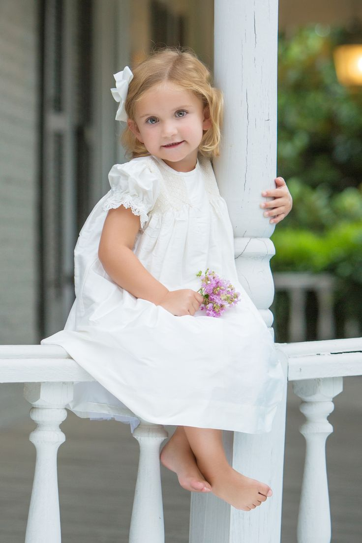 Strasburg Children Smocked silk dress. Great for holiday family photos or flower girls!