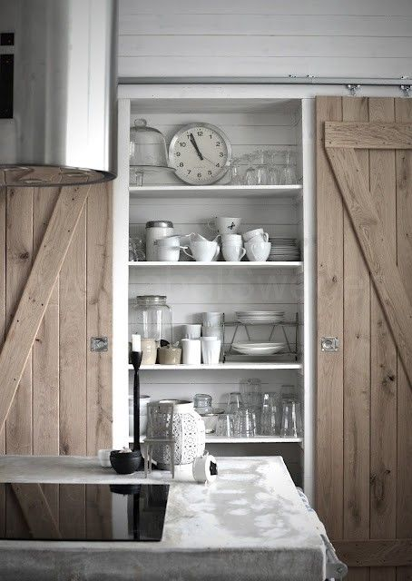 kitchen storage sliding doors scandinavian modern