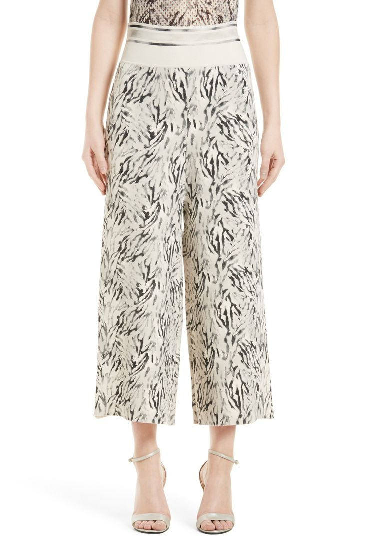 Zebra Print Gaucho Pants