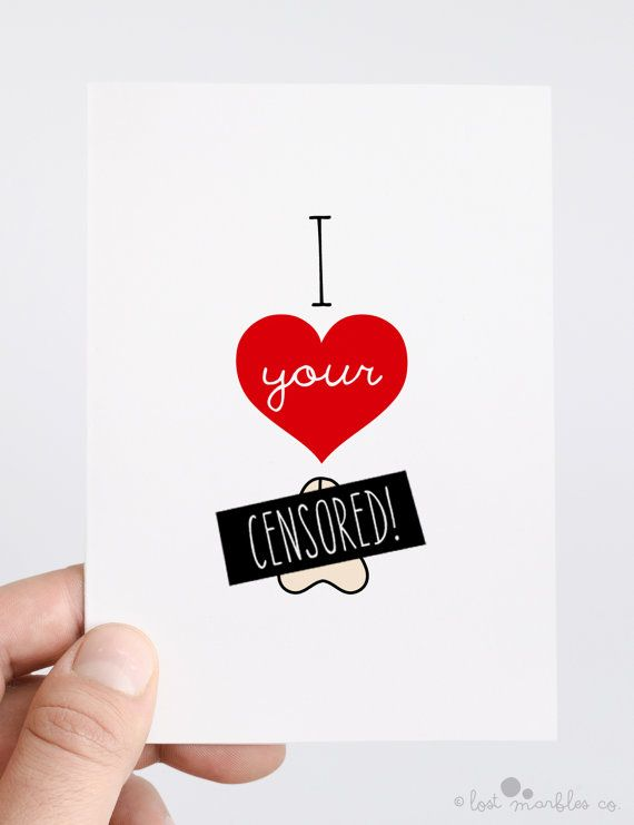 Naughty Anniversary Card  Rude Valentines Card  by LostMarblesCo