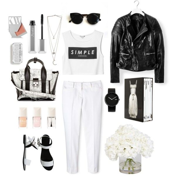 """3blacksheep9;summerandthecity"" by blacksheep39 on Polyvore #comfy #white #city #hot #blackandwhite #simple #classy"