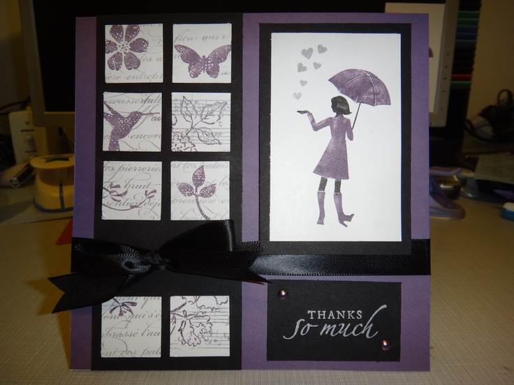 Thank You card featuring a lot of Stampin' Up stamps