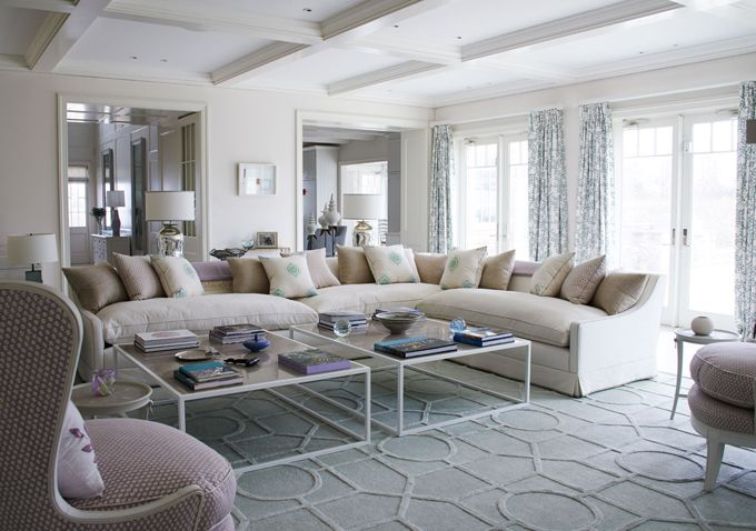 Serene Living Room With Comfy Sofa Thorp Design Lovely - serene living room home decor