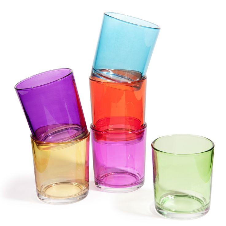 6 vasos de agua de cristal de colores GIPSY   Maisons du Monde