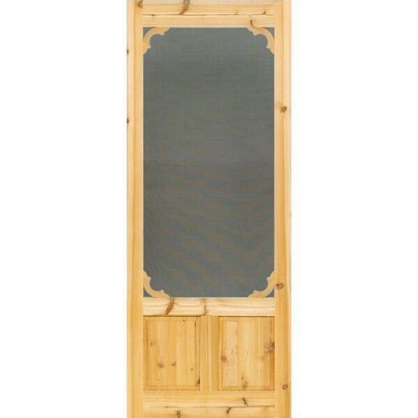 Unfinished Cedar Slab Screen Door In 2020 Wood Screen Door Screen Door Aluminum Screen Doors