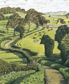 Ancient Lane (Yorkshire) - Simon Palmer (watercolour)