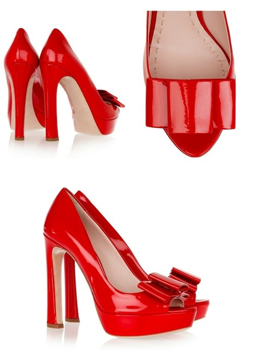 Tuesday Shoesday: Red, Patent, Bows…Be Still My Beating Heart