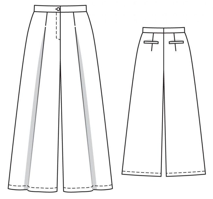 Брюки - выкройка № 121 из журнала 5/2014 Burda – выкройки брюк на Burdastyle.ru