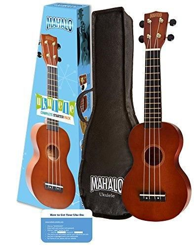 Mahalo Rainbow Series Soprano Ukulele Starter Pack (Amazon Exclusive)