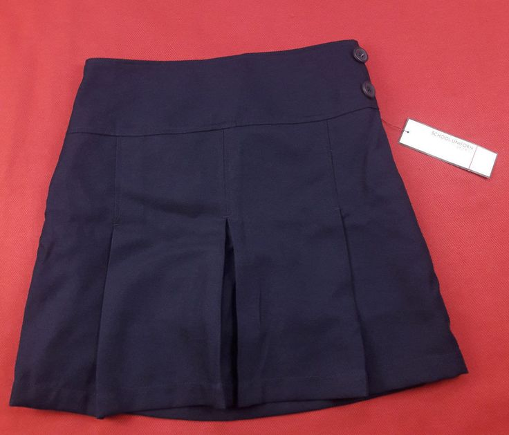 "George Girls Sz 14 School Uniform Skirt Navy Blue Pleated Scooter Skort 16"" Long #George #SchoolUniform"
